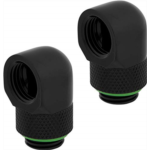 X352999 [관부세포] Corsair Hydro X Series 90° Rotary Adapter Twin Pack, Black, Model Number: CX-9055009-WW