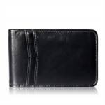 Q133881 Mens Wallet Bifold Leather RFID Blocking Slim Wallet for Men Front Pocket Double ID Window 10 Card Holders