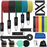 H423953 OlarHike Resistance Bands Set Exercise Bands with Handles for Working Out, Sports, Workout Bands with Loop Bands and Exercise Sliders, 23 pcs Resistance Band for Men and Women