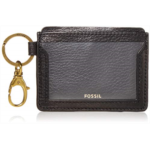 J484598 Fossil Women's Lee Leather Card Case Wallet With Keychain