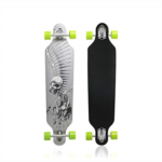 A787163 Nattork Longboard Skateboard 42 Inch Drop Through Complete Skateboard Cruiser for Cruising, Carving, Free-Style and Downhill