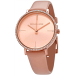 R667665 Michael Kors Women's Jayne Three-Hand Rose Gold-Tone Alloy Watch MK7113