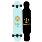 X295844 Longboard Skateboard 42 Inch Complete Maple Dream Catcher Drop Through Freestyle Camber Concave Cruising Dancing Deck for Adults, Beginners, Teens-#2