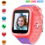"""E151786 Kids Smart Watch for Girls Boys with 1GB SD Card,Phone Call Games Music Camera Alarm Recorder SOS,1.54""""Color Touch Screen Smartwatch for 3-13 Years Children Birthday Gift (Pink)"""