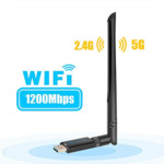 H370105 Blueshadow USB Wifi Adapter 1900Mbps for PC Games w/2x 5dBi External Dual-Band Antennas,5.8GHz/1300Mbps+2.4GHz/600Mbps,USB 3.0 Cradle for Desktop Laptop PC Windows 10/8.1/8/7/XP,MAC(Upgrade wi