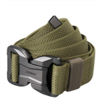 L314063 JUKMO Tactical Belt, Military Style Rigger 1.5 Inches Nylon Web Belt with Magnetic Heavy-Duty Quick-Release Buckle