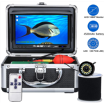J737354 Underwater Fishing Camera,OKK 30 Adjustable IR and White LEDs with 7 inch 1080p HD IPS Colour Monitor Waterproof IP68 Underwater Viewing Fish Finder for Ice Fishing Lake, Boat, Sea, River (50f