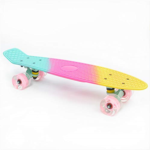 A714693 Complete 22inches Cruiser Skateboard for Beginners - Kids Girls Boys Skateboard Plastic Banana Board with Colorful LED Wheels for School and Travel