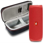 A395614 JBL Flip 5 Waterproof Portable Wireless Bluetooth Speaker Bundle with Hardshell Protective Case - Red