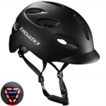 P751245 Exclusky Adult Bike Helmet with Rechargeable USB Safety Light for Urban Commuter CPSC Certified