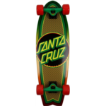 Q530508 Santa Cruz Rasta Weave Dot 8.8in x 27.7in Shark Cruiser Skateboard