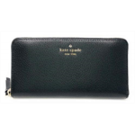 W604728 Kate Spade New York Sam Large Continental Leather Wallet (Black)