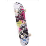 B154483 OKBOP Standard Skateboards, Profession Beginner Wood Graffiti Complete Skateboard, Canadian Maple Double Kick Deck Concave Cruiser Trick Skate Board for Kids Teens Adults Girls Boys