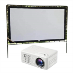 O977246 Dongba Home LED Projector HD 1080P Theater with Projection Cloth Overhead Projectors