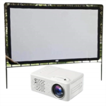 S940251 Sunywear Home LED Projector HD 1080P Theater with Projection Cloth Overhead Projectors