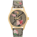Gold & Multicolor Floral GG G-Timeless Watch