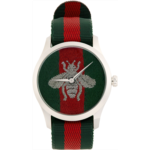 Green & Red G-Timeless Bee Watch
