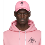 Pink Embroidered Graphic Cap