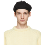 Black Coarse Wool Beret