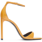 Yellow Snakeskin Bea 105 Heeled Sandals