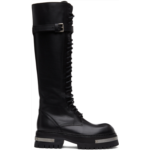 SSENSE Exclusive Black & Silver Oversized Sole Tucson Tall Boots