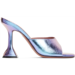Purple Iridescent Caroline Slipper Heels