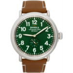 Silver & Green 'The Runwell' 47mm Watch