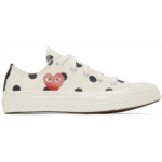 White Converse Edition Polka Dot Heart Chuck 70 Low Sneakers