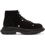 Black Suede Tread Lace-Up Boots