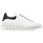 White & Black Studded Clear Sole Oversized Sneakers