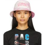 Pink Peter Saville Edition 'Lose Yourself' Bucket Hat